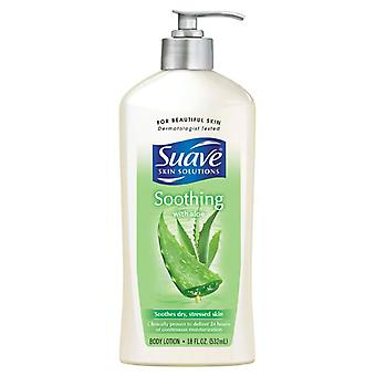 Suave skin solutions soothing with aloe skin care, 18 oz