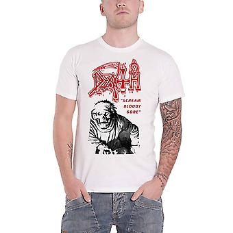 Death T Shirt Scream Bloody Gore Band Logo new Official Mens Vintage White