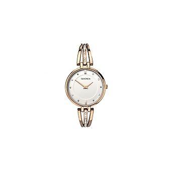 Sekonda Ladies 'Editions' Stone Set Rose Gold Bracelet Watch 2468