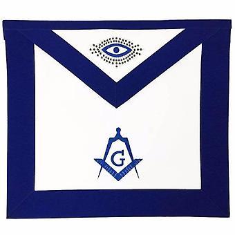 Masonic lodge master mason apron machine embroidery navy