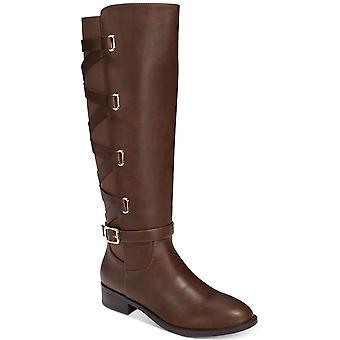 Thalia Sodi Womens veronika Leather Almond Toe Knee High Fashion Boots