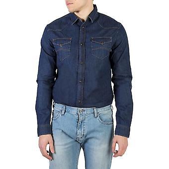 Armani jeans - clothing - shirts - 6Y6C29_6D3AZ_560 - men - navy - L