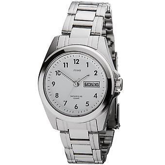 JOBO señoras reloj de cuarzo analógico acero inoxidable fecha reloj