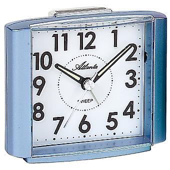 Atlanta 1959/5 Alarm clock quartz analog blue light blue quiet without ticking with light