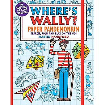 Where's Wally? Paper Pandemonium - Search - fold and play on the go! b