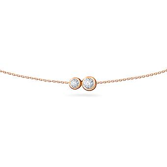 Body Chain Duo 18K Gold and Diamonds - Rose Gold, Small