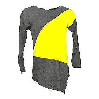 Laurie Felt Women's Top (XXS) Modern Color Block Sweater Gris A295834