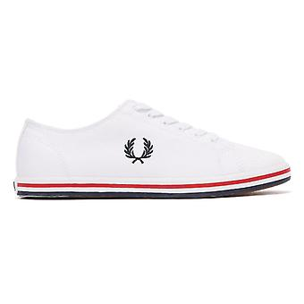 Fred Perry Kingston Twill Mens White / Navy Trainers