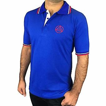 قميص بولو جولف الماسوني مع شعار التطريز الملكي القوس