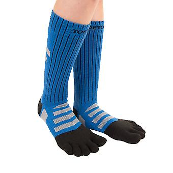 TOETOE Outdoor Unisex Mid-Calf Wool Terry Walker Toe Socks
