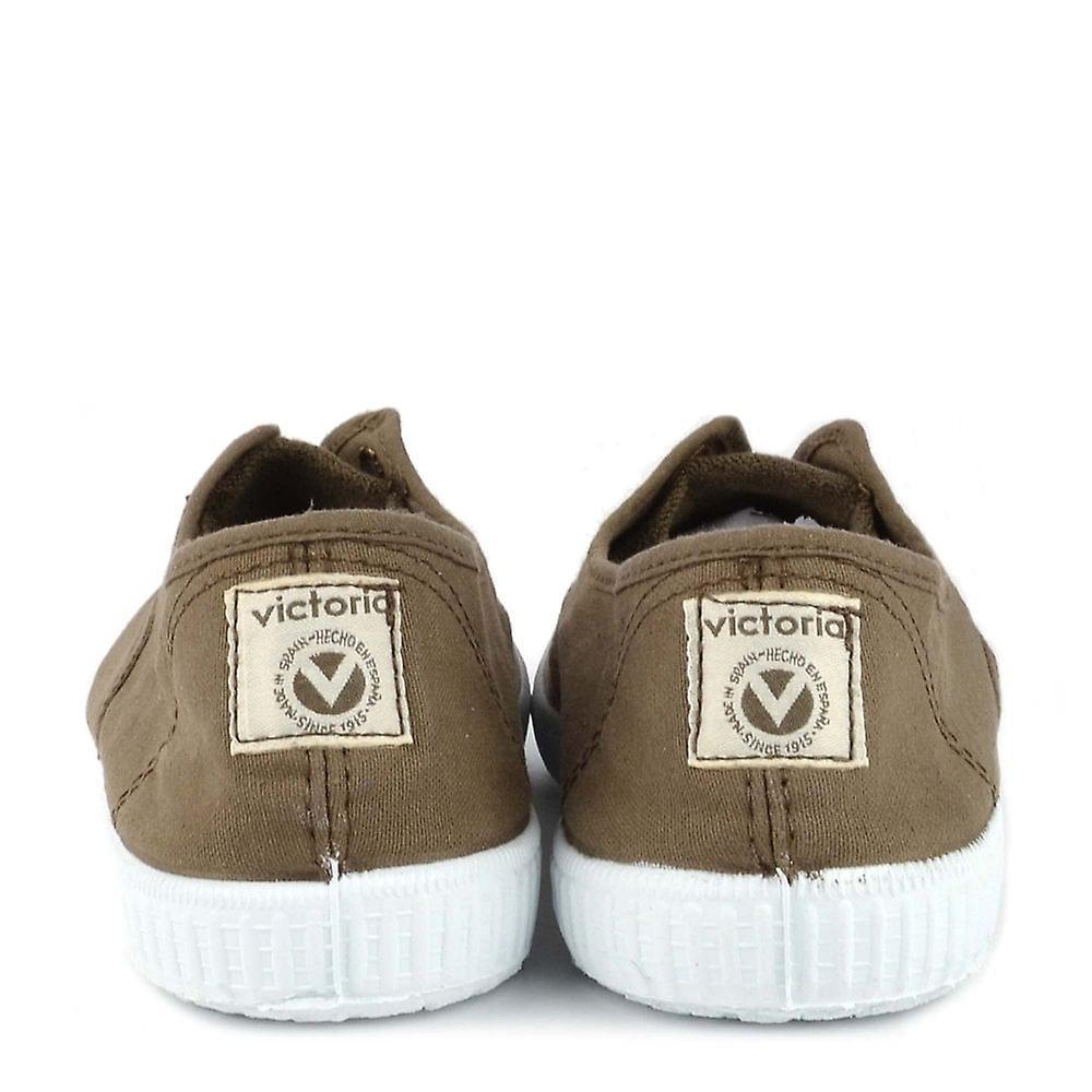 Victoria Shoes Dora Military Canvas Plimsolls