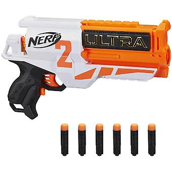 nerf ultra two motorised dart blaster with 6 cylinder reload and 6 darts for