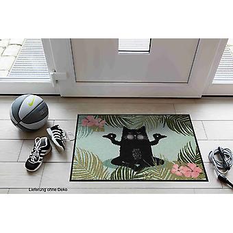 Lion de salon pied mat 50 x 75 cm tapis de Yoga chat saleté lavable