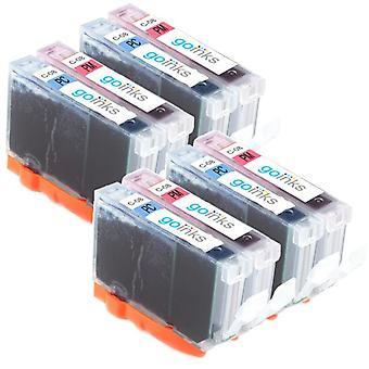 4 Valokuvasarja 2 mustekasettia Korvaamaan Canon CLI-8PC & CLI-8PM Yhteensopiva / ei-OEM Go Inks (8 mustetta)