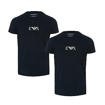 Men's Armani 2 Pack T-Shirt in Blue