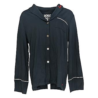 Peace Love World Women's Pajama Top Pima Cotton Green A373997