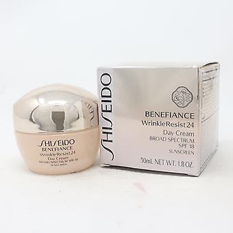 Shiseido benefiance التجاعيد مقاومة 24 يوم كريم SPF 18 1.8oz/50ml جديدة مع مربع