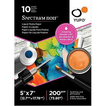 Spectrum Noir Yupo Liquid Media Paper 5x7 Polegadas (10pcs) (SN-YU10-5X7S)