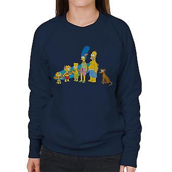 De Simpsons Surf familie vrouwen ' s Sweatshirt