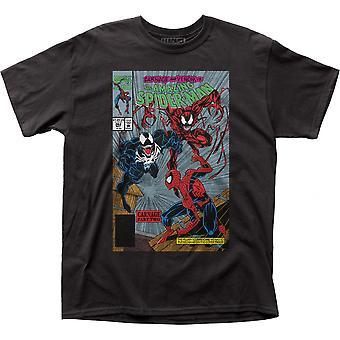 Spider-Man Gift vs Carnage Tegneserie Cover Del To T-skjorte