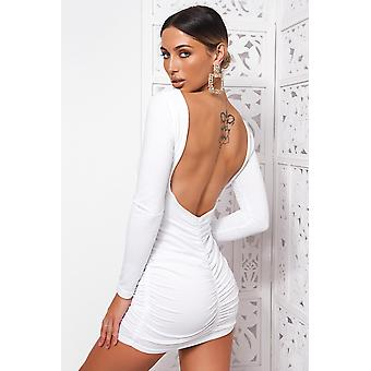 Revi Backless Ruched Mini Abito