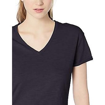 Brand - Daily Ritual Women's Lived-in Cotton Roll-Sleeve V-Neck T-Shir...
