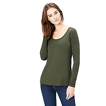 Marque - Daily Ritual Women-apos;s Jersey Long-Sleeve Scoop Neck T-Shirt, Fo...