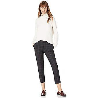 Brand - Lark & Ro Women's Boucle Turtleneck Oversized Sweater, Ivory,S...