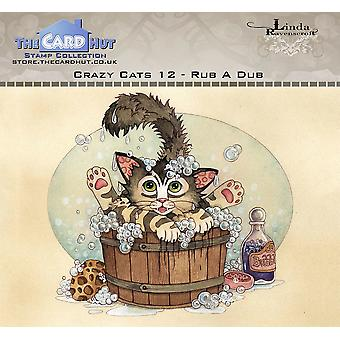 The Card Hut Crazy Cats Rub A Dub Clear Stamps