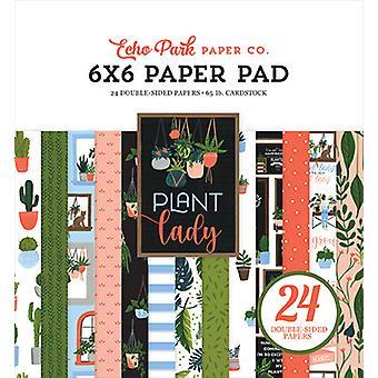Eco Park Plant Lady 6x6 Polegadas Bloco de Papel