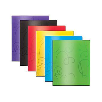 2140-48, BAZIC Swirl Embossed2-Pockets Poly Portfolio Case of 48