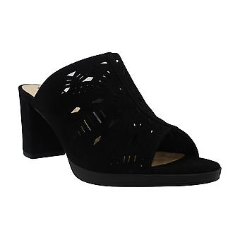 Bella Vita Women's Schoenen Lark Suede Open Toe Casual Mule Sandalen