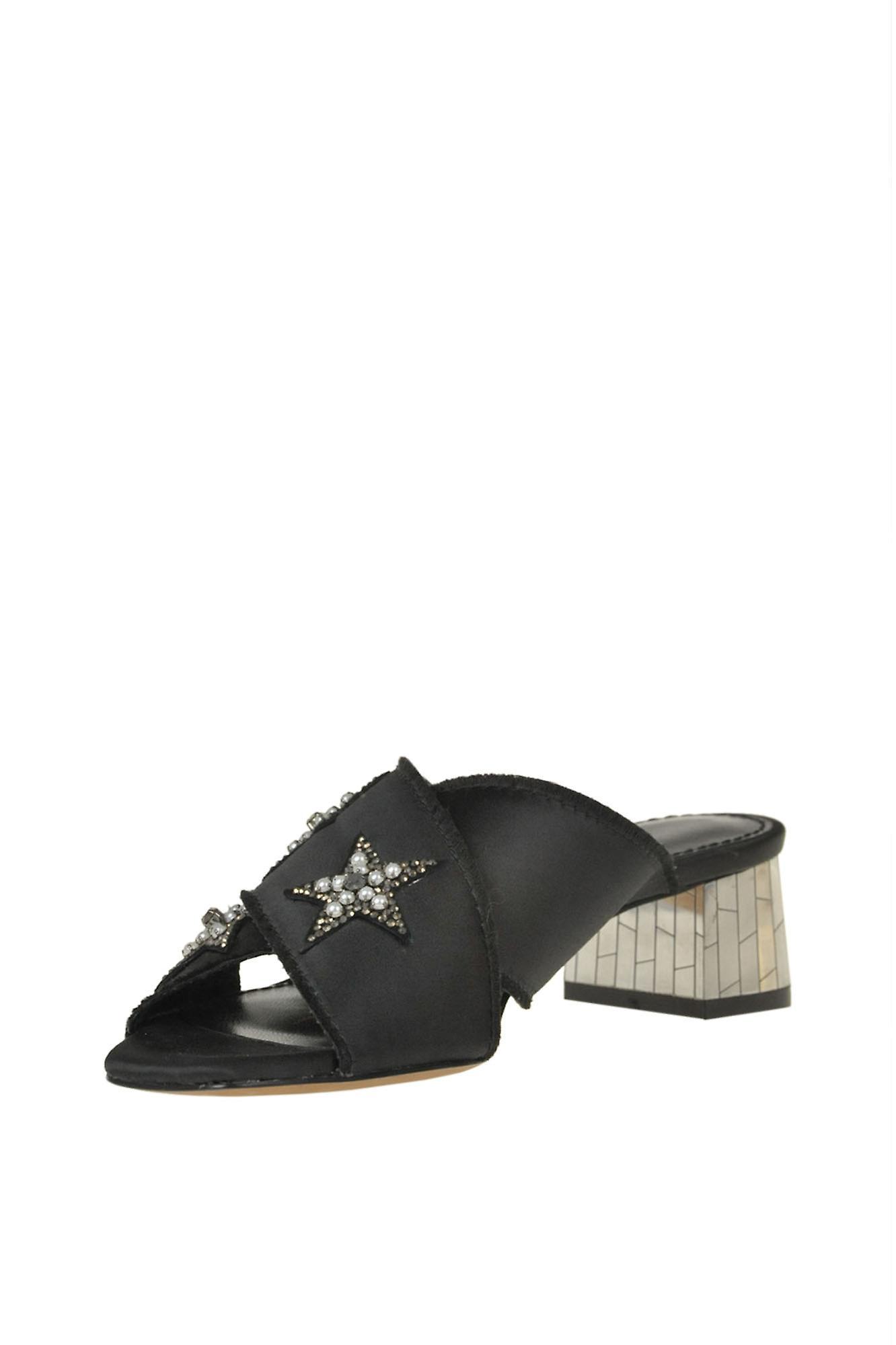 Lola Cruz Ezgl191010 Women's Black Satin Sandals