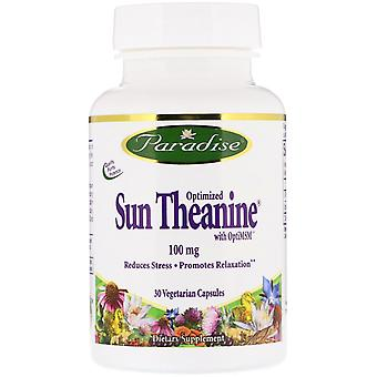 Paradise Herbs, Optimized Sun Theanine, 100 mg, 30 Vegetarian Capsules