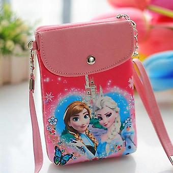 Disney Cartoon Princess - Pu cuero lindo, conveniente bolsa de aperitivos para las damas