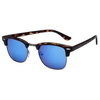 Unisex Sunglasses with Mirror Glass Brown (AZ-16-107)