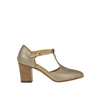 Pantanetti Ezgl559001 Women's Gold Leather Pumps