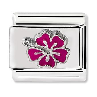 Nomination Classic Honolulu Pink Hibiscus Link Charm 330202/24