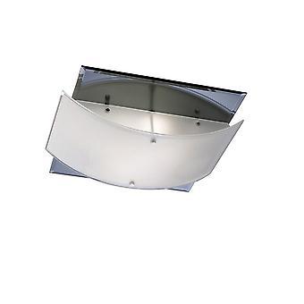 Inspiriert Diyas - Vito - Flush Decke 2 Licht poliert Chrom, Spiegel