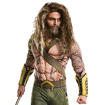 Aquaman Batman V Superman Superhero Men Costume Wig And Beard Set