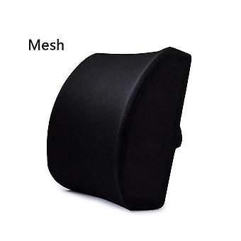 2 In 1 Bamboo Fiber Memory Foam Seat Cushion Back Slow Rebound Waist Support Set For Home Office Health Care Chair Pad