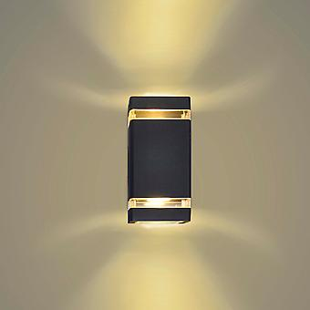 Artpad Black-led Indoor/outdoor Lighting, Led Sconce Up And Down Wall Wash