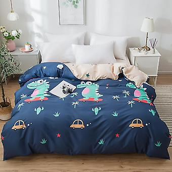 dual-sided Duvet Cover  soft Comfortable Cotton Printing Comforter -textiles Quilt Cover  Set 11