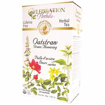 Celebration Herbals Organic Oatstraw Green Flowering Tea, 24 Bags