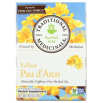 Traditional Medicinals Teas Pau D'Arco Herbal Tea, Yellow 16 Bags