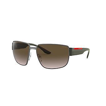 Prada Sport Linea Rossa SPS56V 7CQ/04G Matte Gunmetal/Brown Gradient Aurinkolasit