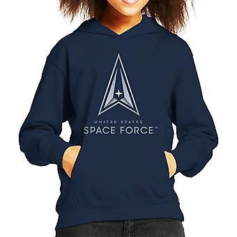 U.S. Space Force Classic Logo Light Text Kid's Hooded Sweatshirt