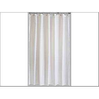 Home Label Plain Poly Shower Curtain Cream 95201