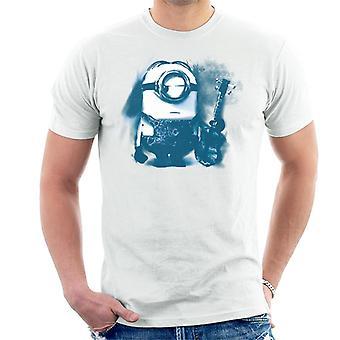 Despicable Me Stuart The Minion Guitar Art Men's T-Shirt