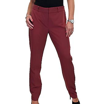 Women's Professional Tapered Suit Trousers Ladies Smart Washable Business City Tailored Pants 10-18